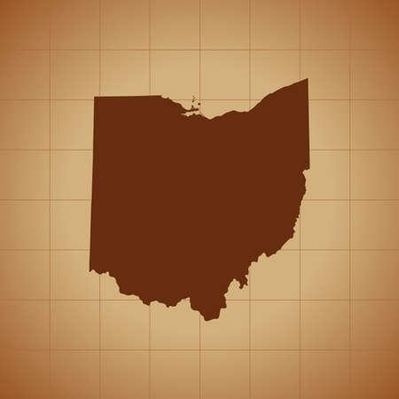 map of Ohio Ilustrace