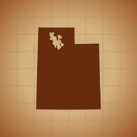 map of Utah  イラスト・ベクター素材