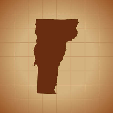 map of Vermont Ilustrace