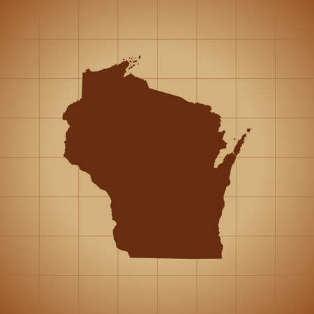 map of Wisconsin Illustration
