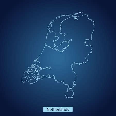 map of Netherlands Ilustrace