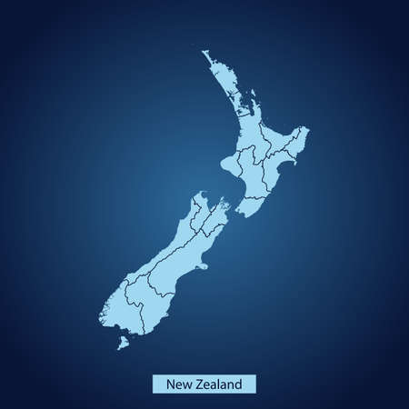 map of New Zealand Ilustrace