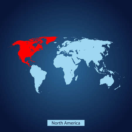 map of North America Иллюстрация