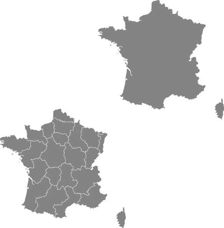vector map of the France Ilustracja
