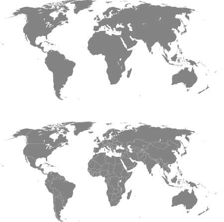 vector map of the world Ilustracja