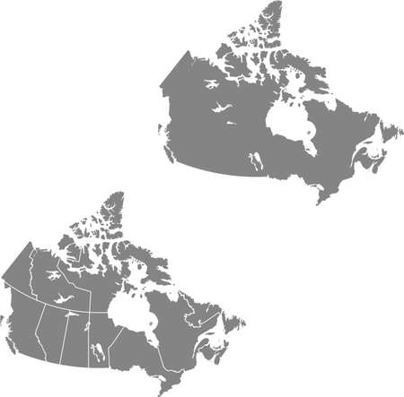 vector map of the Canada Ilustracja