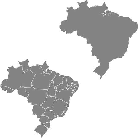 vector map of the Brazil