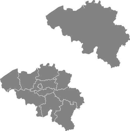vector map of the Belgium