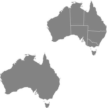 vector map of the Australia
