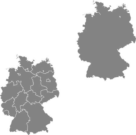 vector map of the Germany