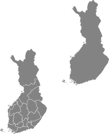 vector map of the Finland