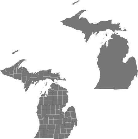 vector map of the Michigan