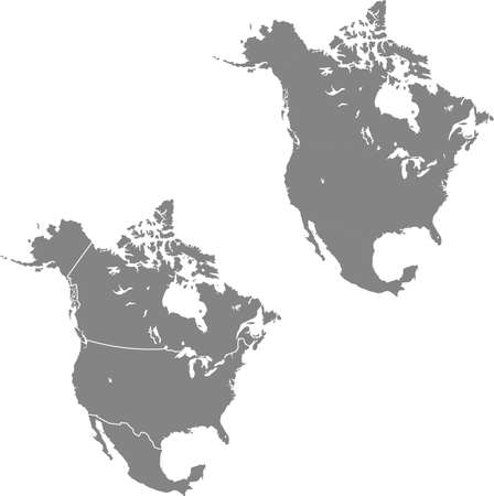 vector map of the North America Çizim