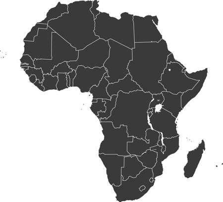 vector map of the Africa
