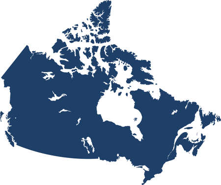 vector map of the Canada Çizim