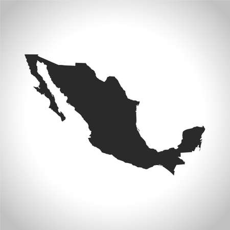vector map of the Mexico