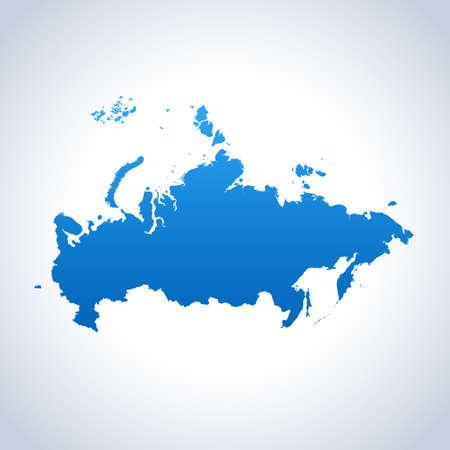 vector map of the Russia Ilustração Vetorial
