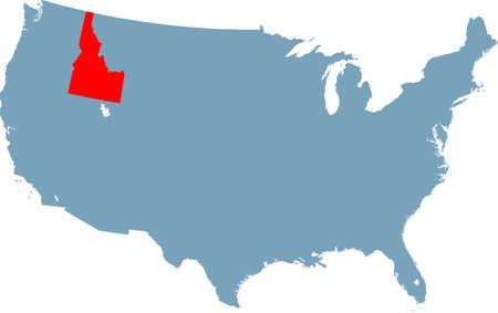map of Idaho Ilustração