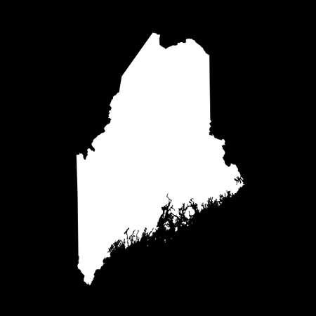 map of Maine 向量圖像