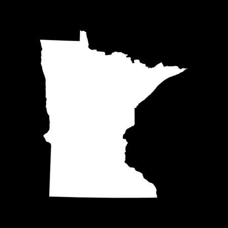 map of Minnesota 矢量图像