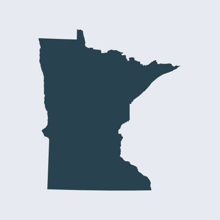 map of Minnesota 向量圖像
