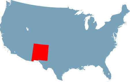 map of New Mexico 矢量图像