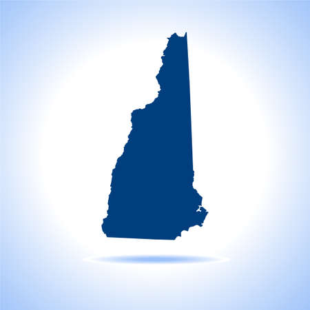 map of New Hampshire 向量圖像