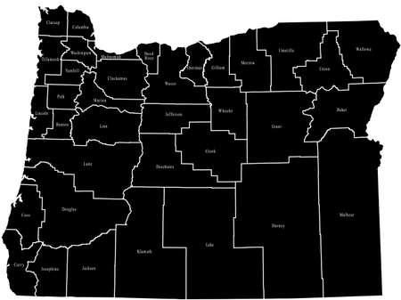 map of Oregon 向量圖像