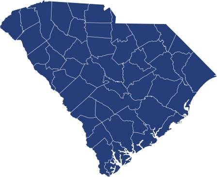 map of South Carolina Vektoros illusztráció