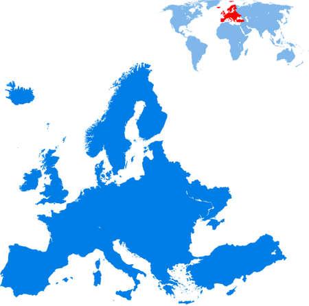 map of Europe Vektorgrafik