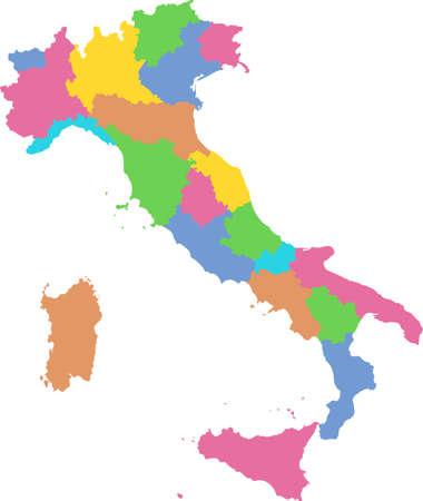 map of Italy Vektoros illusztráció
