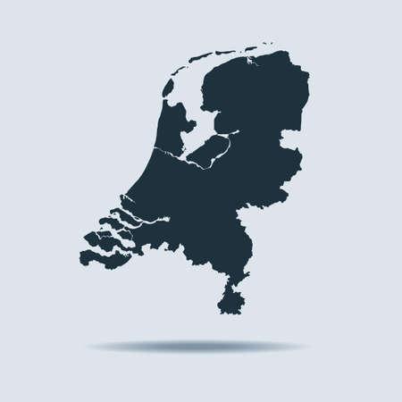 map of Netherlands Vector Illustratie