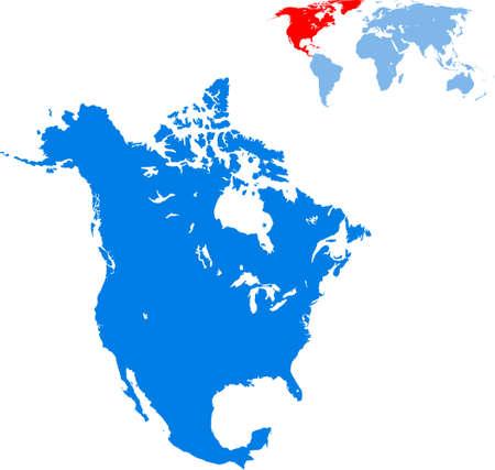 map of North America Иллюстрация