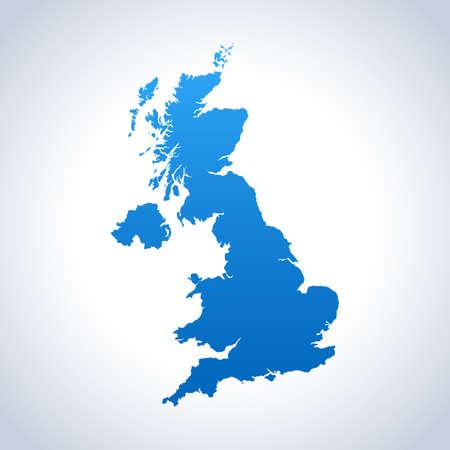 map of United Kingdom Vektorové ilustrace