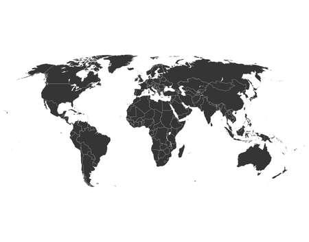 map of world Vektorgrafik