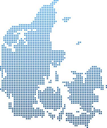 map of Denmark Vektoros illusztráció