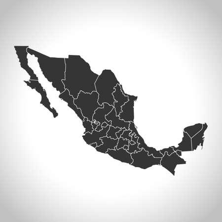 map of Mexico Vetores