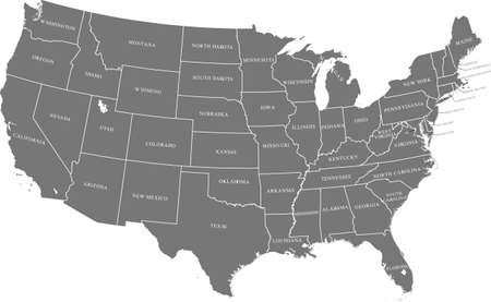 map of USA Vektorgrafik