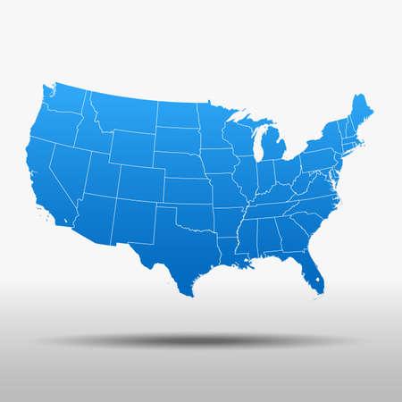 map of USA Ilustração Vetorial