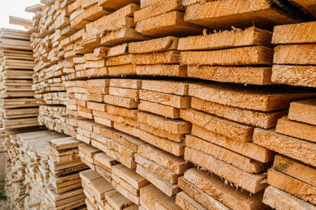 Board pine stack building materials high parallel folded dry building design pattern