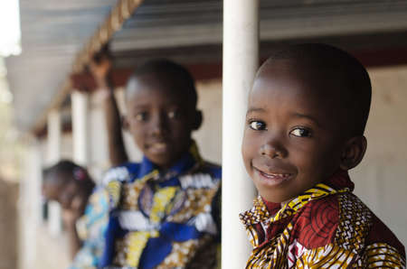Hope for African Children - Beautiful boys and girls outdoors Zdjęcie Seryjne
