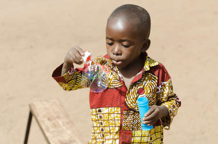 Adorable African Baby Playing in Bamako, Mali (Africa)