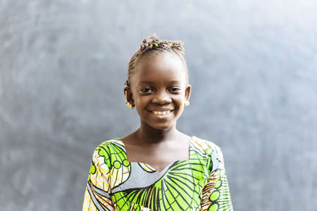 Gorgeous Smile on African Black Girl Toothy Laughing Portrait Shot Zdjęcie Seryjne