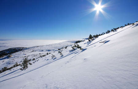 Winter mountains on a bright sunny day, Bulgaria Stock Photo - 3923932