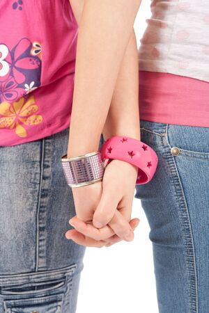 lesbian love: Sisters Holding Hands