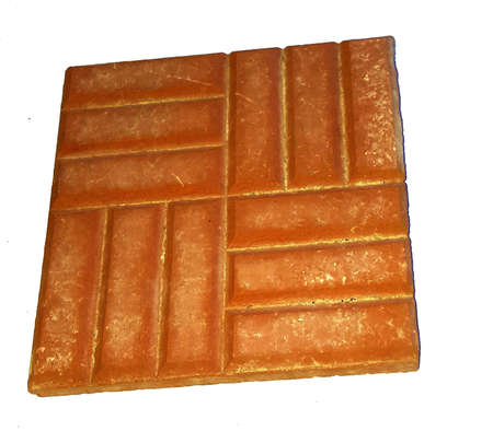 Ancient ceramic floor tiles from the excavations of an ancient palace.