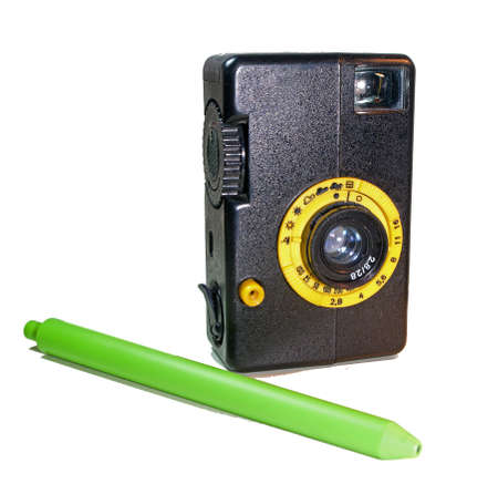 Vintage Miniature  Film Camera was produced in the Soviet Union. Stock Photo