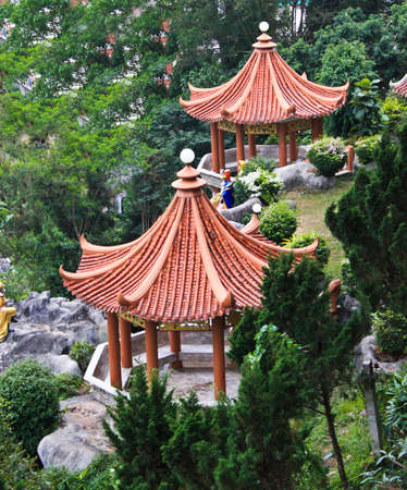 Pavilion chinese in thailand Stock Photo