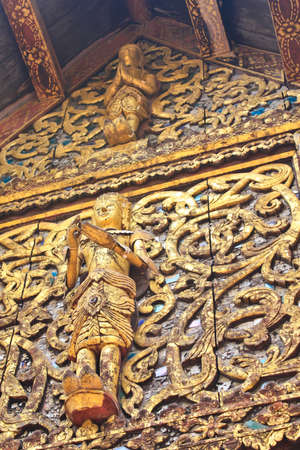 Traditional Thai style wood  photo