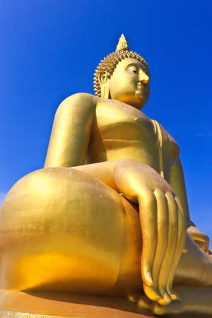 Big Golden Buddha at Wat Muang, thailand photo